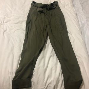Green high waste Anthropologie pants